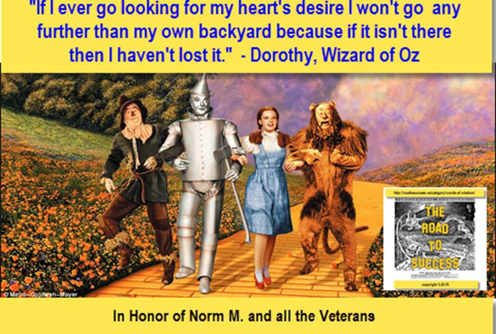 Art of Stillness – Wizard Of Oz, Dorothy Famous 'Backyard' Quote
